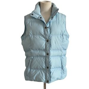 Youth blue winter quilted puffer vest XL 14–16